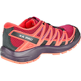 Salomon XA Pro 3D Zapatillas Niños, cerise./dubarry/peach amber